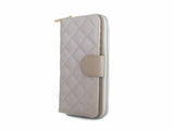 Women's Italian Quilted Vegan Leather Wallet - Multiple Colors