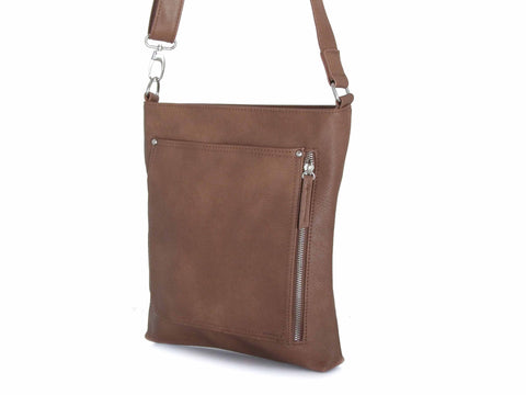 Italian Messenger Bag - Vegan Leather Multiple Colors