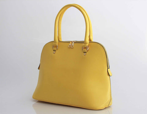 Italian Structured Satchel - Vegan Leather - Multiple Colors