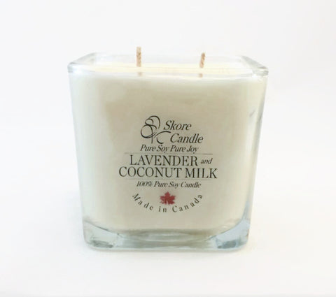 Lavender & Coconut Milk Scented Soy Candle