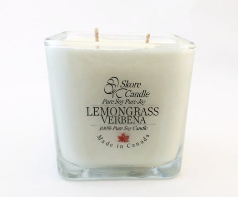Lemongrass Verbena Scented Soy Candle