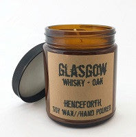 Glasgow Whiskey & Oak Scented Soy Candle