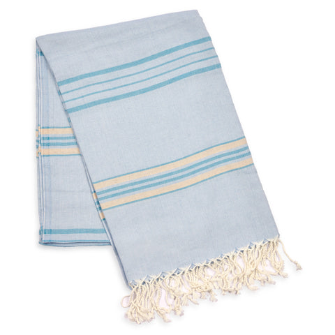 Antalya Striped Eco-friendly Spa/Beach Towel - Beige