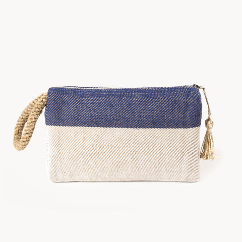 Block A Clutch - Blue