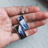 Planetary Society LightSail 2 Image Rectangle Earth Necklace