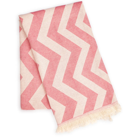 Mersin Eco-friendly Ultra Soft Chevron Towel Pink