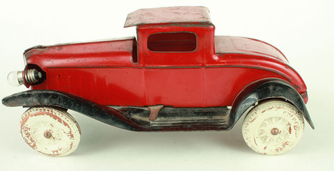 Vintage Antique Wyandotte Red and Black Tin Coupe c. 1930's