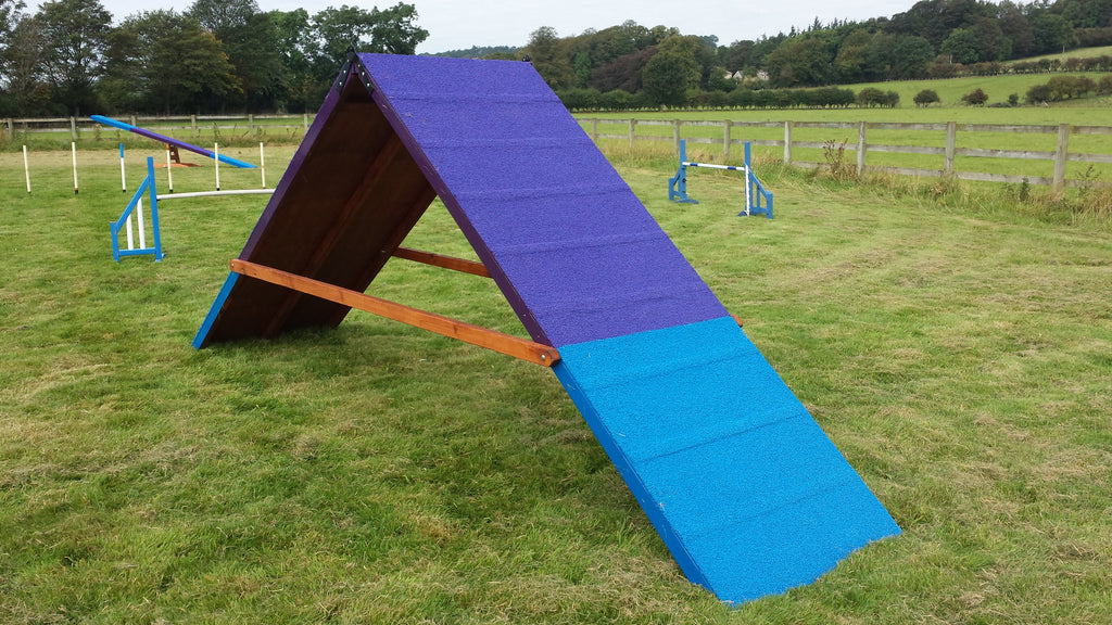 Competition A-frame with slats, 4 feet wide at base - Longfield Agility Solutions
