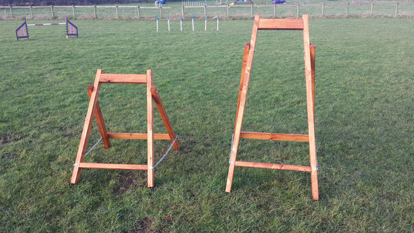 Full Height Dogwalk Trestles - Longfield Agility Solutions