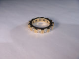 Exquisite 18K Yellow Gold Diamond Eternity Wedding Band Ring