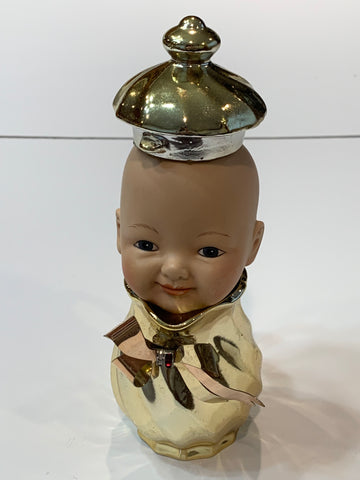 Rare Handmade Whimsical Porcelain Doll Head Child Golden Boy Home Decor