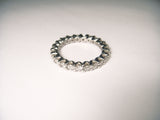Elegant 14K White Gold Diamond Designer Eternity Wedding Ring Band