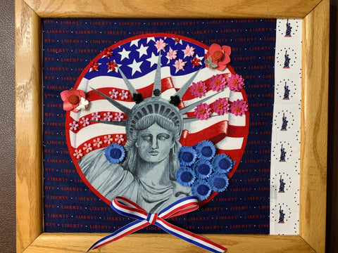 Unique Statue of Liberty American July 4th Handmade Artwork Home Decor