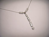 Exquisite 18K White Gold Fancy Color Brown Diamond Drop Necklace
