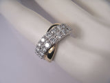 Beautiful 14K White 2-Tone Gold Designer Diamond Ring Band