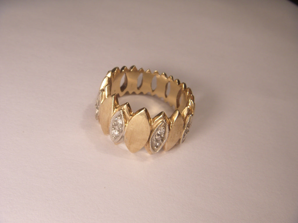 Fabulous 14K Yellow Gold Diamond Eternity Wedding Ring Band
