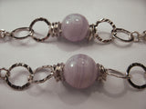 Beautiful Sterling 925 Silver Purple Agate Necklace