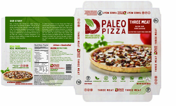 Three Meat PaleoPizza Product Description