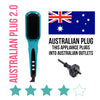 AUSTRALIAN PLUG Teal Straightening Brush 2.0