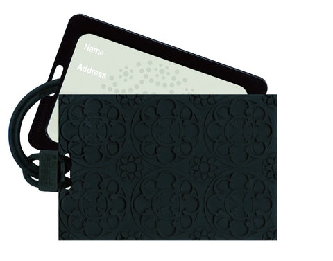 Luggage Tag Ebony Rosace - Arabesque Boutique