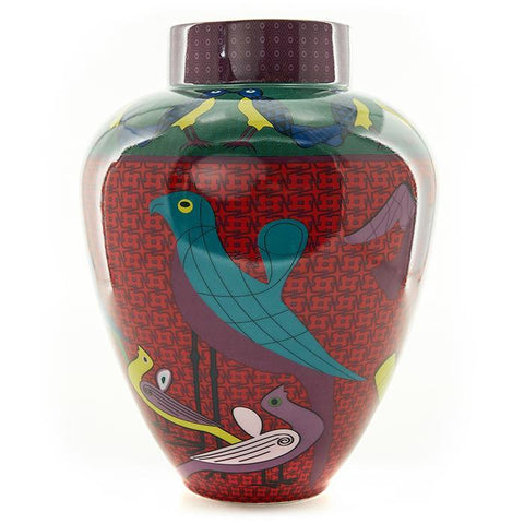 Porcelain Vase Birds of Paradise