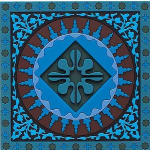Set of 6 Coasters Mosaic Blue - Arabesque Boutique - 1