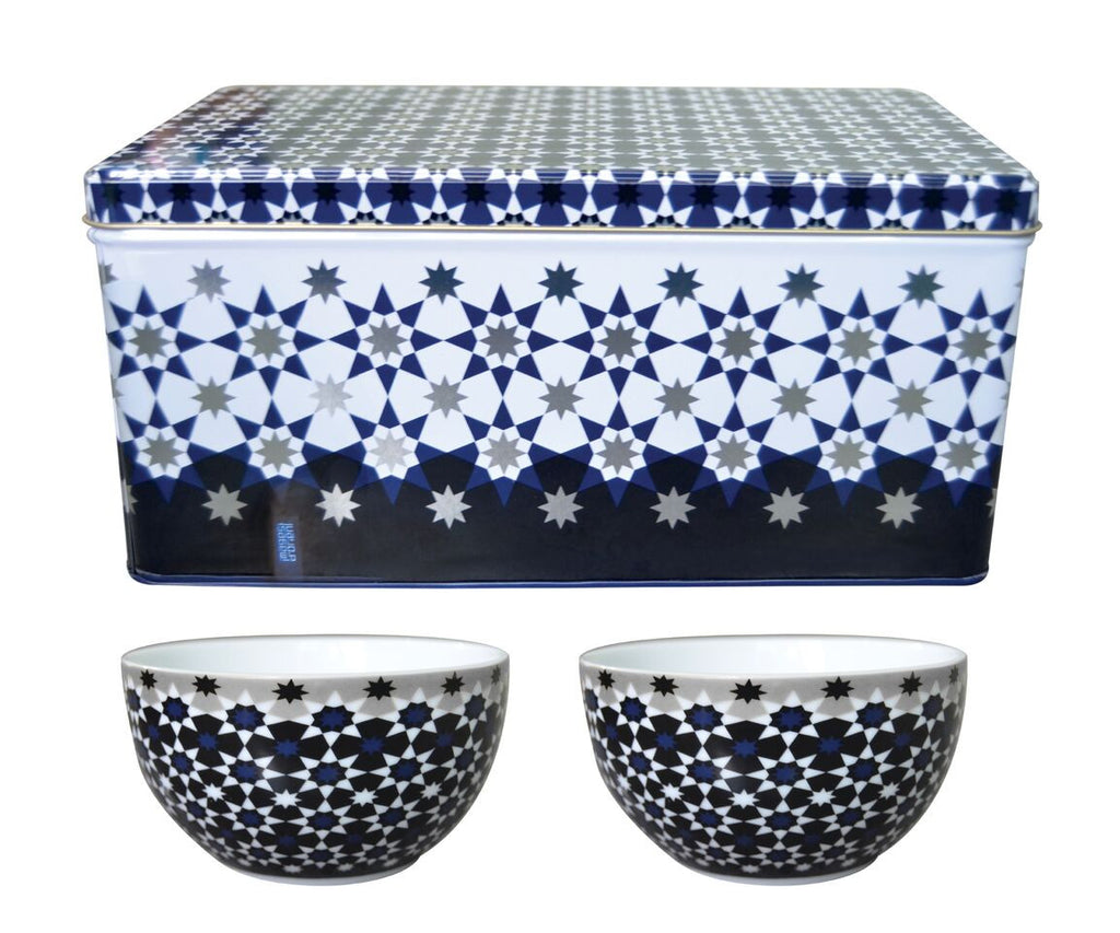 Tin box with 2 bowls Kaokab