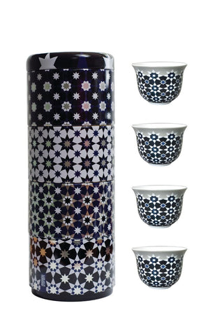Tin Box with 4 Coffee Cups Kaokab