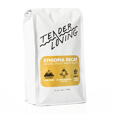 Ethiopia Decaf  - Sidamo Swiss Water Decaffeinated