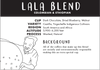 Tender loving coffee roasters lala blend colombian and ethiopian