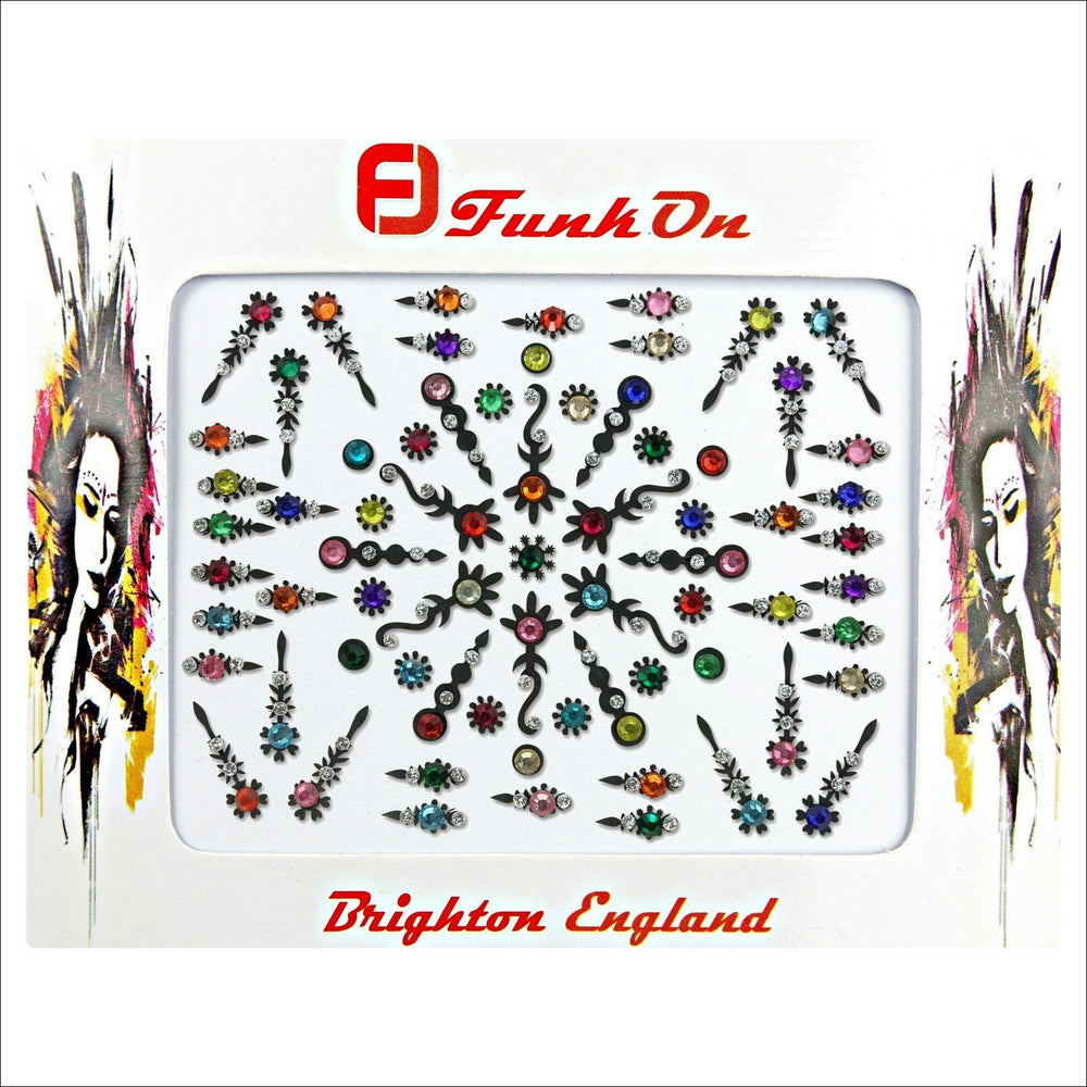 Astral | Creative Gem Multi Pack | Multicoloured Festival Face Jewels-FunkOn