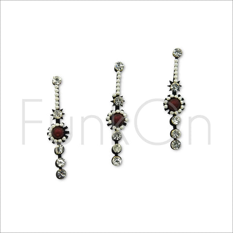Bejewelled | Fancy Bindi Multi Pack | 3 Silver Festival Face Jewels-FunkOn