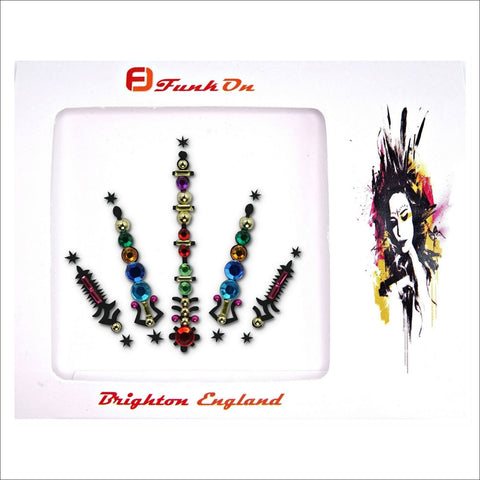 Cosmic Ray | Multicoloured Festival Face Gem | Bindi Jewel Fusion-FunkOn