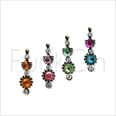 Esprit | Fancy Bindi Multi Pack | 4 Multicoloured Festival Face Jewels-FunkOn