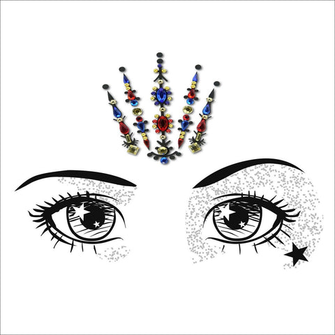 Fairy Queen | Red One Piece Festival Face Gem | Bindi Jewel Fusion-FunkOn