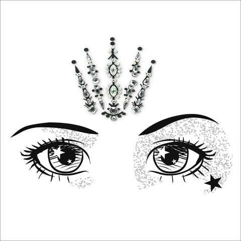 Fairy Queen | Silver One Piece Festival Face Gem | Bindi Jewel Fusion-FunkOn