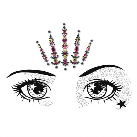 Solar Flare  |  Pink One Piece Festival Face Gem  |  Bindi Jewel Fusion