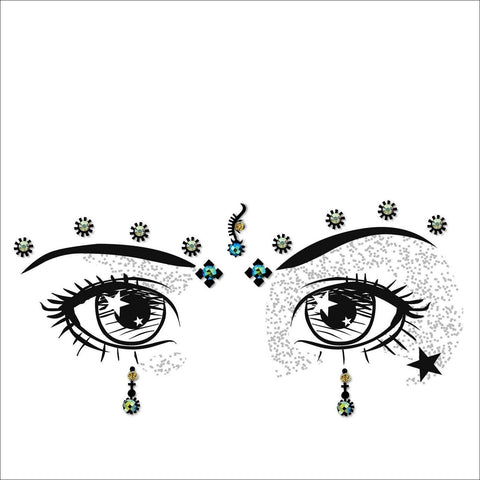 Galaxy | Creative Gem Multi Pack | Silver Festival Face Jewels-FunkOn