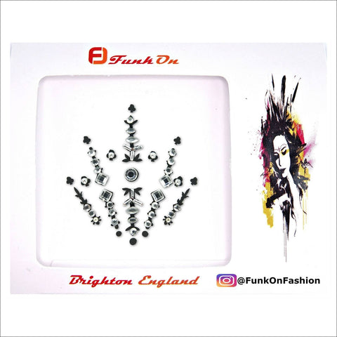 Interstellar | Silver One Piece Festival Face Gem | Bindi Jewel Fusion-FunkOn