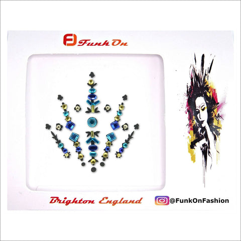 Interstellar|Blue One Piece Festival Face Gem | Bindi Jewel Fusion-FunkOn