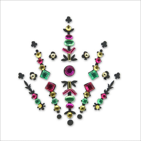 Interstellar|Pink & Green One Piece Festival Face Gem | Bindi Jewel Fusion-FunkOn