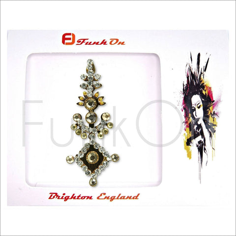 Majestic |Huge Single Gold Bindi | Festival Face Gem | Jewel Headpiece-FunkOn