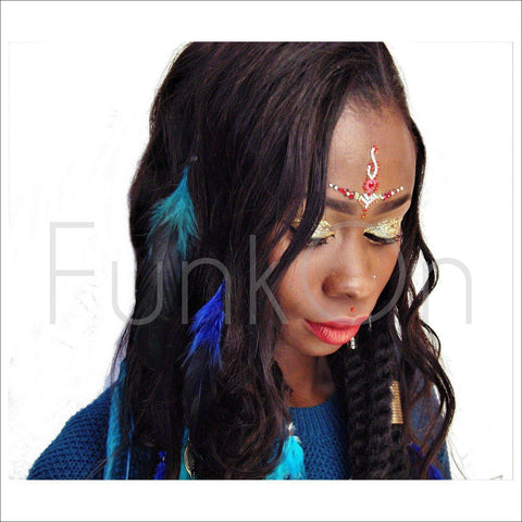 Majestic |Huge Single Purple Bindi | Festival Face Gem | Jewel Headpiece-FunkOn