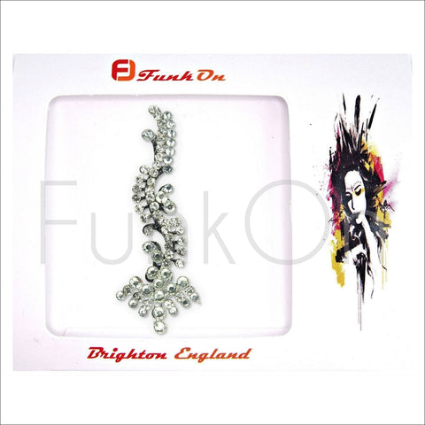 Majestic |Huge Single Silver Bindi | Festival Face Gem | Jewel Headpiece-FunkOn