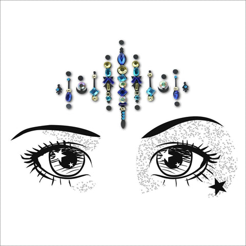Moon Child | Blue One Piece Festival Face Gem | Bindi Jewel Fusion-FunkOn
