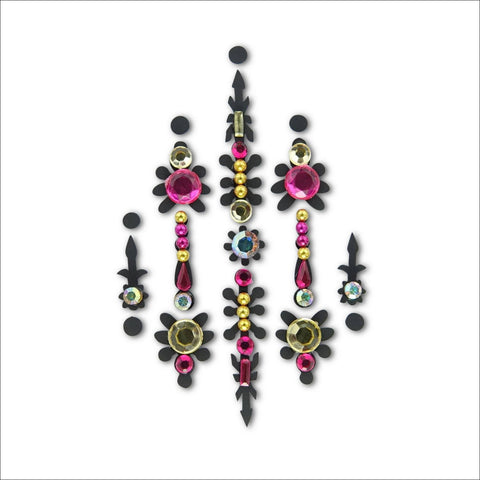 Mystic Flower-6 Colour Options | One Piece Festival Face Gem |Bindi Jewel Fusion-FunkOn