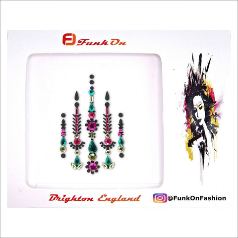Mystic Soul | Pink & Purple One Piece Festival Face Gem | Bindi Jewel Fusion-FunkOn