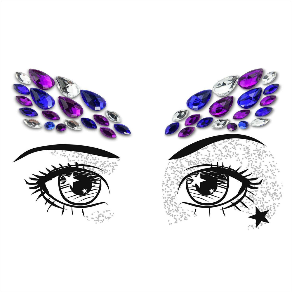 Party Eyes | Blue & Purple One Piece Festival Face Gem | Jewel Fusion-FunkOn