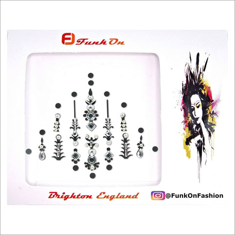 Pyramid | Silver One Piece Festival Face Gem | Bindi Jewel Fusion-FunkOn