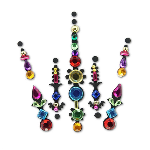 Rainbow Unicorn | Multicoloured One Piece Festival Face Gem | Bindi Jewel Fusion-FunkOn